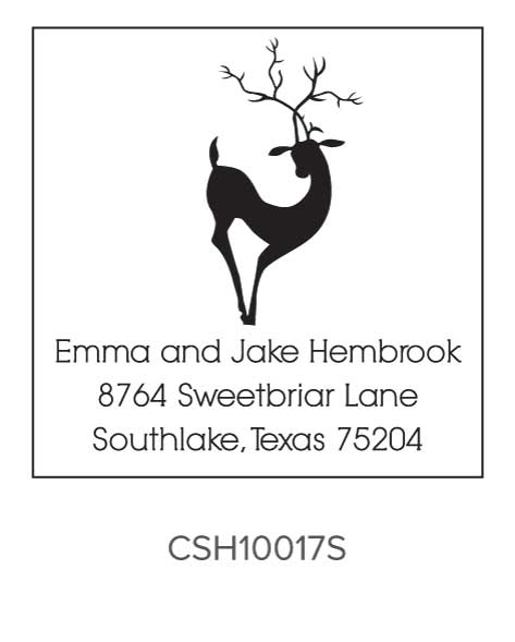 Three Designing Women Custom Self-Inking Holiday Stamper CSH10017S