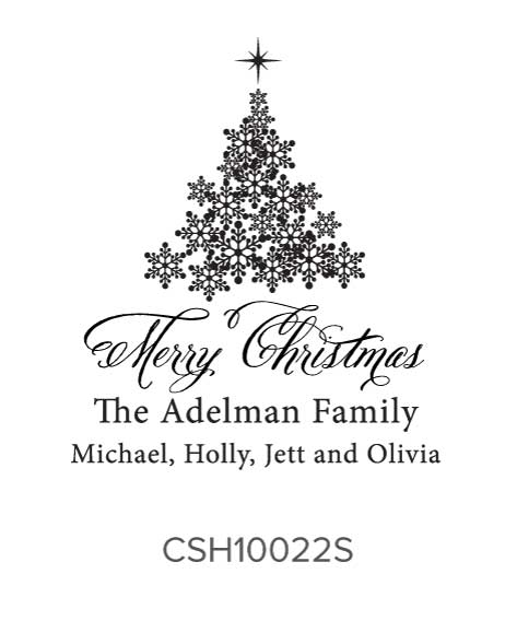 Three Designing Women Personalized Self-Inking Holiday Stamper CSH10022S