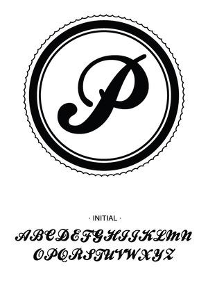 Custom Self-Inking Monogram Stamper by Three Designing Women CSM10002S