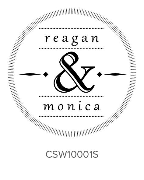 Custom Self-Inking Wedding Stamper by Three Designing Women CSW10001S