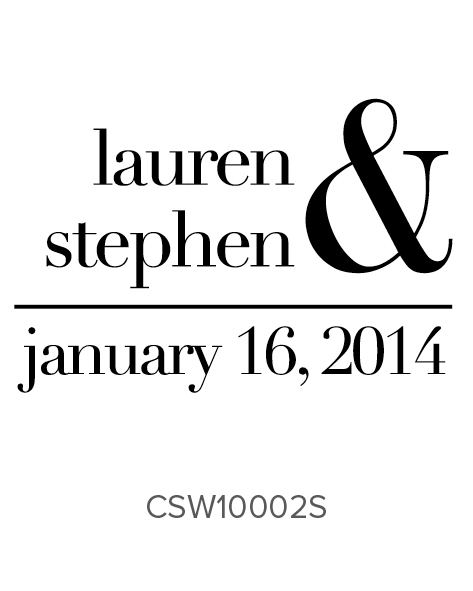 Custom Self-Inking Wedding Stamper by Three Designing Women CSW10002S