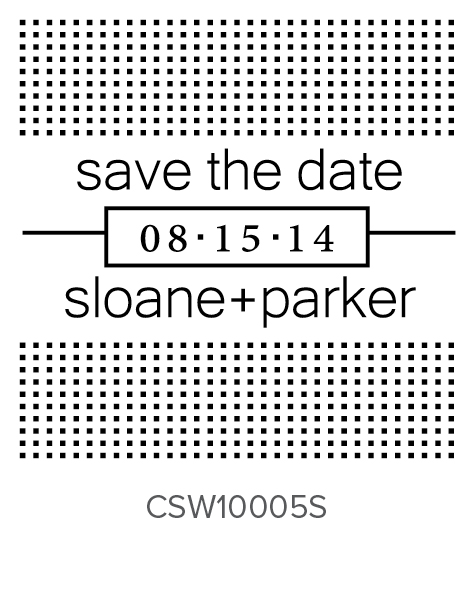 Custom Self-Inking Wedding Stamper by Three Designing Women CSW10005S