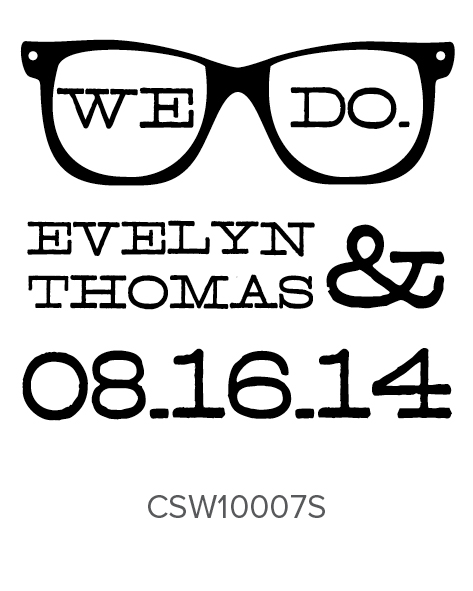 Personalized Self-Inking Wedding Stamper by Three Designing Women CSW10007S