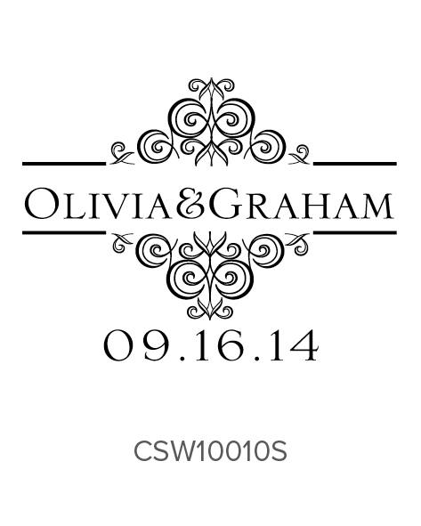 Personalized Self-Inking Wedding Stamper by Three Designing Women CSW10010S