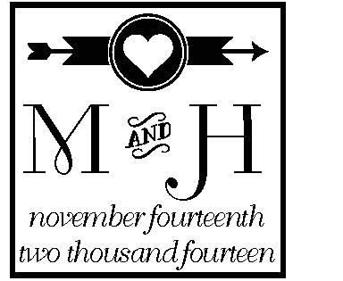 Personalized Self-Inking Wedding Stamper by Three Designing Women CSW10011S