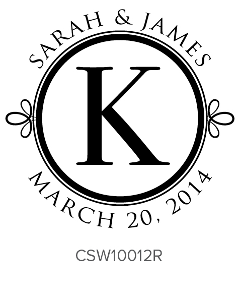 Personalized Self-Inking Wedding Stamper by Three Designing Women CSW10012R