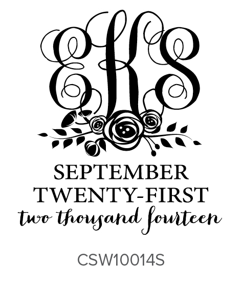 Three Designing Women Custom Self-Inking Wedding Stamper CSW10014S