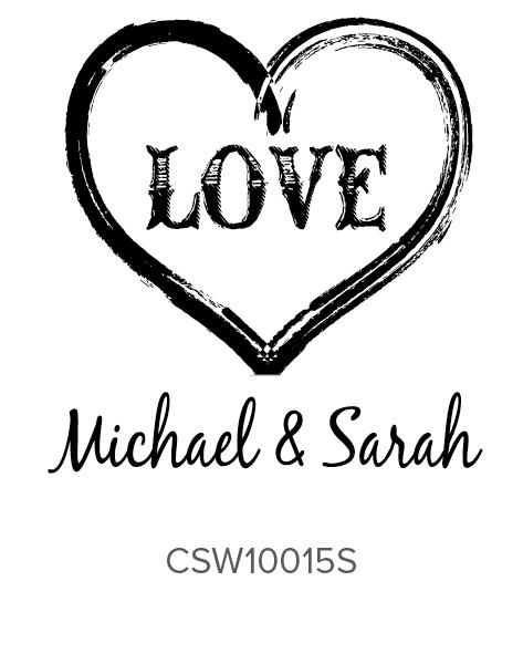 Three Designing Women Custom Self-Inking Wedding Stamper CSW10015S
