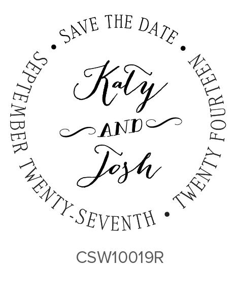 Three Designing Women Custom Self-Inking Wedding Stamper CSW10019R
