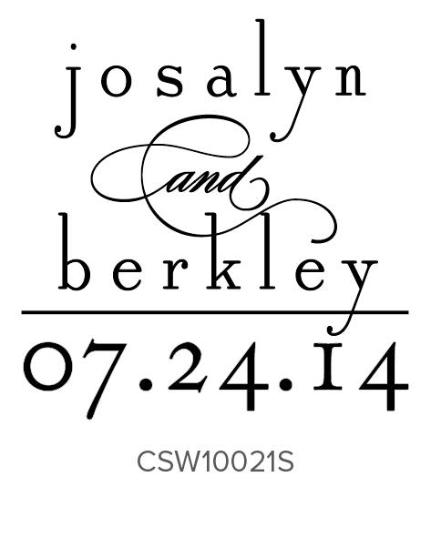 Three Designing Women Custom Self-Inking Wedding Stamper CSW10021S