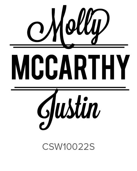 Three Designing Women Personalized Self-Inking Wedding Stamper CSW10022S