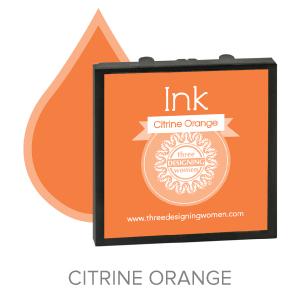 Citrine Orange ink for Three Designing Women Stampers