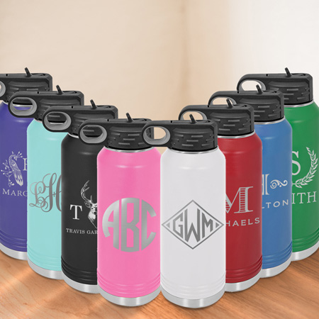 32 oz Water Bottle by Three Designing Women - all colors