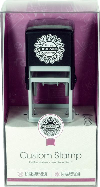 Self-Inking Stamper and Personalized Stamp Design Certificate, plus a Black Ink Cartridge