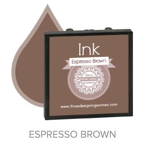Espresso Brown ink for Three Designing Women Stampers