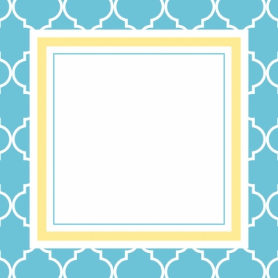Madison Bright Blue Gift Tags by Three Designing Women