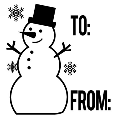 Holiday Snowman To From Stamp Design Clip for Three Designing Women Stampers