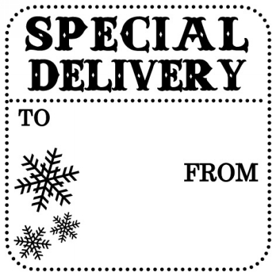 Holiday Special Delivery Stamp Design Clip for Three Designing Women Stampers