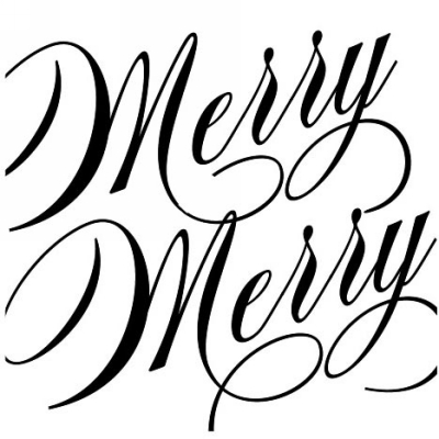 Holiday Swirl Merry Stamp Design Clip for Three Designing Women Stampers