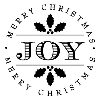 Holiday Joy Stamp Design Clip for Three Designing Women Stampers