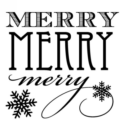 Holiday Merry Stamp Design Clip for Three Designing Women Stampers