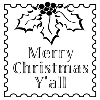 Holiday MC Yall Stamp Design Clip for Three Designing Women Stampers