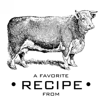 Cow Recipe Stamp Design Clip for Three Designing Women Stampers