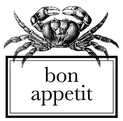 Crab Bon Appetit Stamp Design Clip for Three Designing Women Stampers