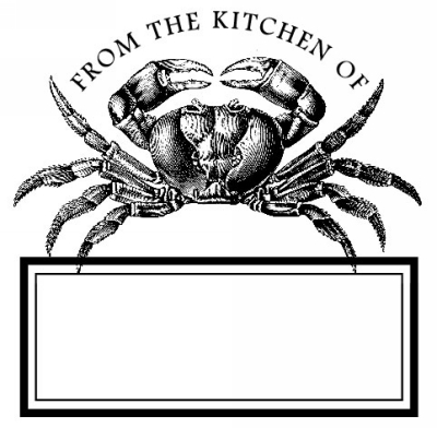 Crab From Stamp Design Clip for Three Designing Women Stampers