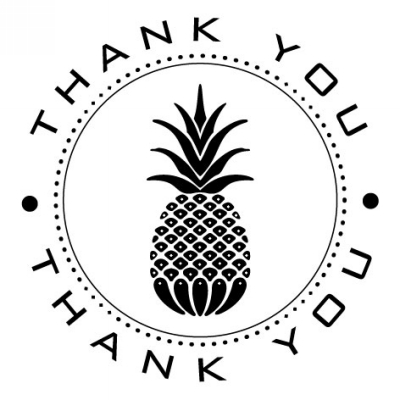 Pineapple Stamp Design Clip for Three Designing Women Stampers