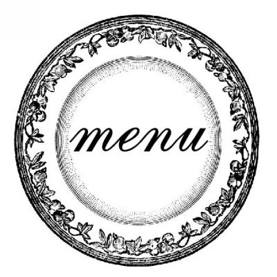 Plate Menu Stamp Design Clip for Three Designing Women Stampers