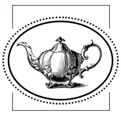 Teapot Stamp Design Clip for Three Designing Women Stampers