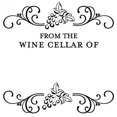 Wine Cellar Stamp Design Clip for Three Designing Women Stampers