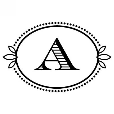 Monogram Cash A Stamp Design Clip for Three Designing Women Stampers