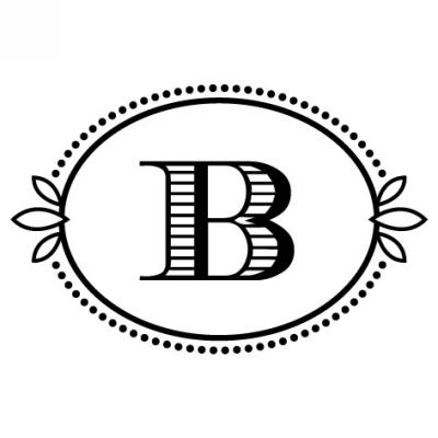 Monogram Cash B Stamp Design Clip for Three Designing Women Stampers
