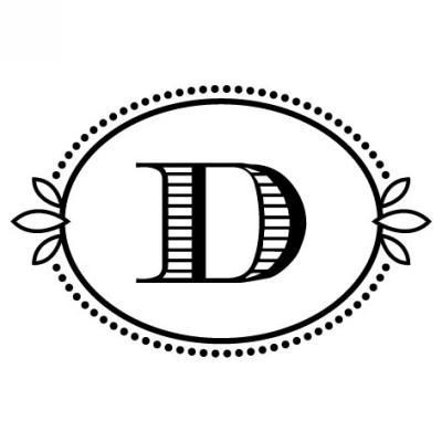 Monogram Cash D Stamp Design Clip for Three Designing Women Stampers