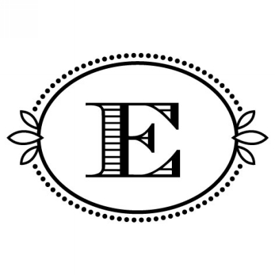 Monogram Cash E Stamp Design Clip for Three Designing Women Stampers