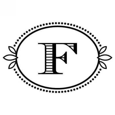 Monogram Cash F Stamp Design Clip for Three Designing Women Stampers