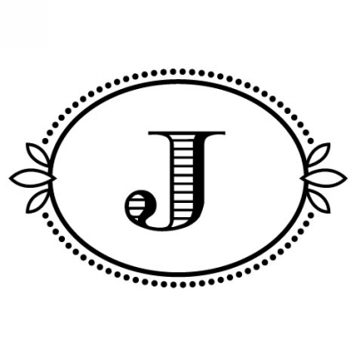 Monogram Cash J Stamp Design Clip for Three Designing Women Stampers