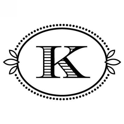 Monogram Cash K Stamp Design Clip for Three Designing Women Stampers
