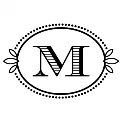 Monogram Cash M Stamp Design Clip for Three Designing Women Stampers