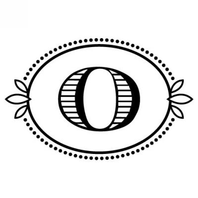 Monogram Cash O Stamp Design Clip for Three Designing Women Stampers