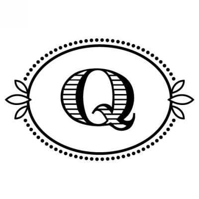 Monogram Cash Q Stamp Design Clip for Three Designing Women Stampers