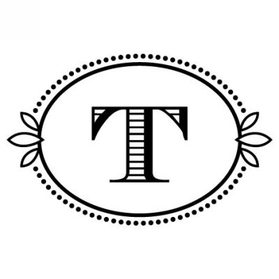 Monogram Cash T Stamp Design Clip for Three Designing Women Stampers