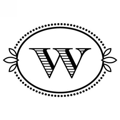 Monogram Cash W Stamp Design Clip for Three Designing Women Stampers