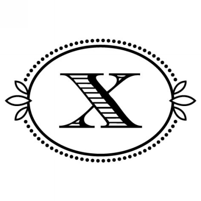 Monogram Cash X Stamp Design Clip for Three Designing Women Stampers