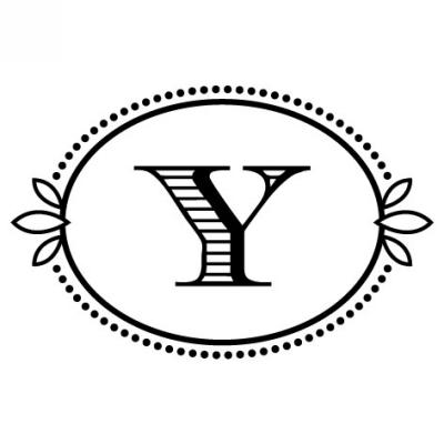 Monogram Cash Y Stamp Design Clip for Three Designing Women Stampers