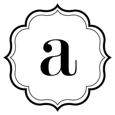 Monogram Scallop A Stamp Design Clip for Three Designing Women Stampers