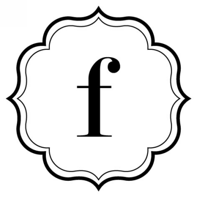 Monogram Scallop F Stamp Design Clip for Three Designing Women Stampers