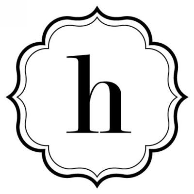 Monogram Scallop H Stamp Design Clip for Three Designing Women Stampers
